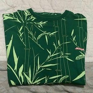 Akademiks green on green floral pattern XXL